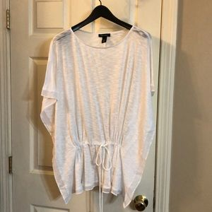 Burn-out flowy top with tie